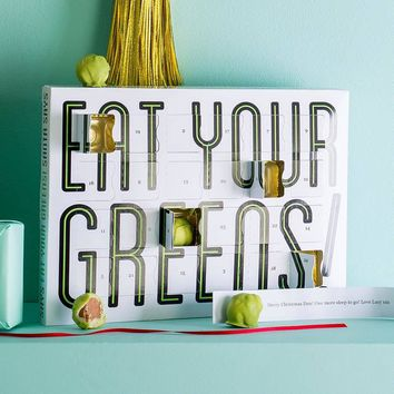 eat your greens chocolate sprouts advent calendar by quirky gift library   notonthehighstreet.com