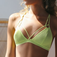 Free People Fish in the Sea Strappy Bra