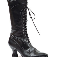 Womens Victorian Black Boot - Spirithalloween.com
