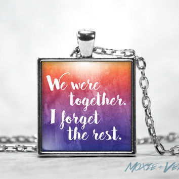 Walt Whitman Necklace, Poems and Poetry, Romantic, Couples, Glass Photo Jewelry