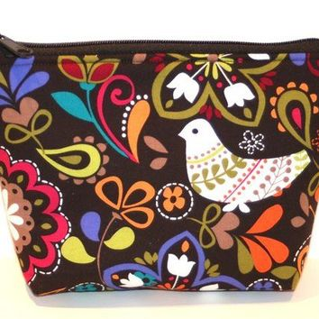 Birds of Norway Padded Zippered Flat-bottom Cosmetic Bag/Zippered Pouch