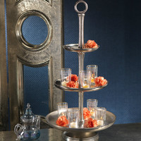 Kasbah Round Three Tier Serving Tray with Ring Top