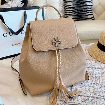 Tory Burch High Quality Fashion Women Leather Backpack Daypack Bookbag