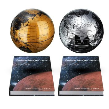 Professional Magnetic Rotating Levitation Floating 6 inch Earth Globe World Map With Book Base Decor artware Ornament
