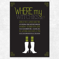 Printable Halloween Witch Invitation - Wicked Good Time