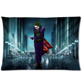 Bedding Set Living Room Pillow Cover,Comic Evil Guy Batman Joker Pillowcase 50%Cotton,50%Polyester Pillow Sham Cushion Cover Size:20x30 Inches(2sides Printed) = 1927992132