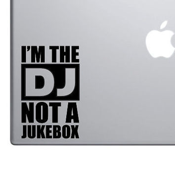 "I'm The DJ Funny Sticker Decal MacBook Pro Air 13"" 15"" 17"" Keyboard Keypad Trackpad Car Truck Decal Laptop Decal Turntable Jukebox Sticker"