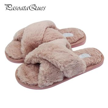 Winter Flock Women Home Shoes Comfortable Indoor House Women Slippers Flats Pasoataques Brand 133