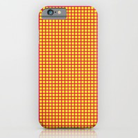 Pink On Yellow Grid iPhone & iPod Case by Moonshine Paradise