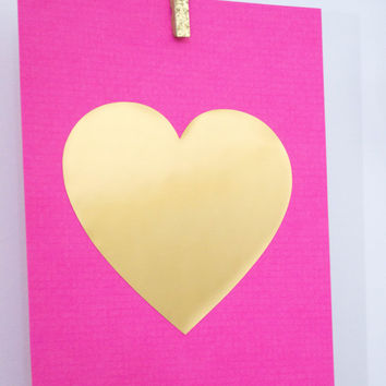 Gold foil print // gold heart, gold foil, gold print, gold poster, pink, nursery decor nursery print, gold quote, heart of gold, gold decor