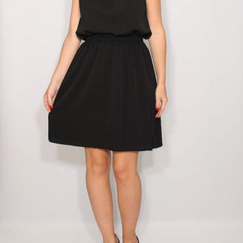 Little black Dress Short Bridesmaid Dress Chiffon Dress Keyhole dress