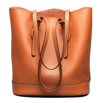 Leather Tote Bag with Adjustable Straps