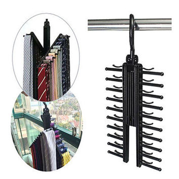 1Pc Adjustable 360 Degree Rotating Tie Rack Belt Scarf Hanger Holder Closet Organizer Home Accessories