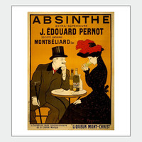 French Absinthe Vintage Poster Print