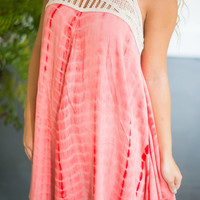 Here For The Beach Party Dress, Coral
