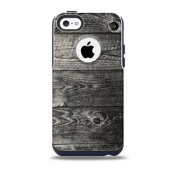 The Dark Washed Wood Planks Skin for the iPhone 5c OtterBox Commuter Case