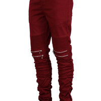 MEN'S TWILL ZIPPER BIKER PANTS