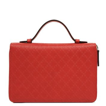 Gucci diamante leather travel document case red 336298