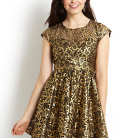 ideeli | EROS APPAREL Short Sleeve Metallic Cupcake Dress