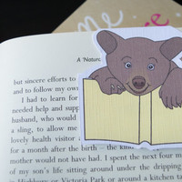 Magnetic bookmark of Bruno the Bear! Book accessories, Childrens art, School supplies, Book gift, Animal collectibles, BOOK FARM ANIMALS