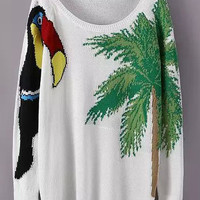 White Bird Printed Knit Sweater