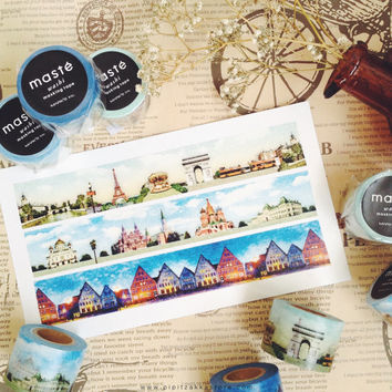City tour Paris , Nordic , Russia by maste mark's washi masking tape mt