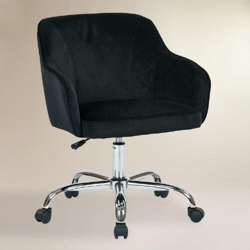Plus Size Office Chairs Black Velvet Jozy Home Office Chair From Cost Plus World Market