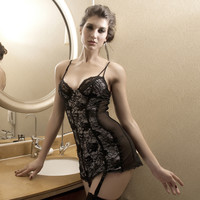 Fashion Women Love Sexy Hot Underwear Lace Babydoll Lingerie Sleepwear Open Bra Crotch = 4662183492