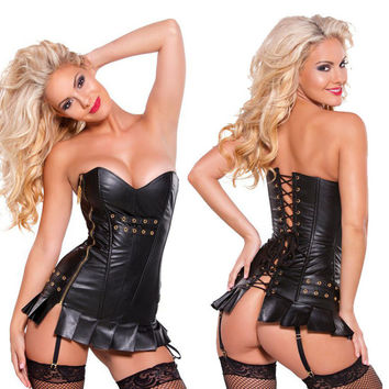 On Sale Sexy Hot Deal Cute Zippers Adjustable Corset Exotic Lingerie [6595912451]