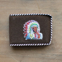 They Made a Trip to Texas - Vintage Western Wallet - Souvenir - Western - Southwestern - Native American - Brown