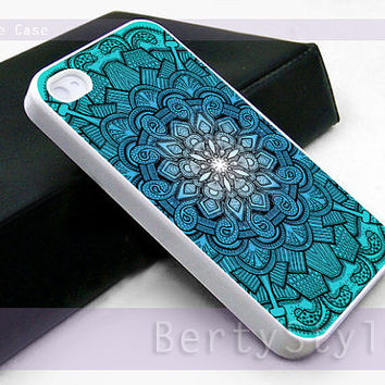 Iphone Case - Iphone 4 Case - Iphone 5 Case - Samsung s3 - samsung s4 - Mandala art Drawing - Photo Print on Hard Plastic