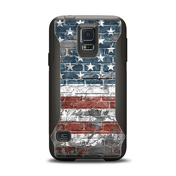 The Vintage USA Flag Samsung Galaxy S5 Otterbox Commuter Case Skin Set