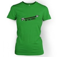 Something Geeky PP - Women's Cartoon Arrow In The Knee T-shirt - Inspired By Skyrim