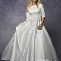 Satin A-line with POCKETS!