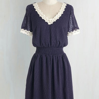 Mid-length Short Sleeves A-line Belle Me About It Dress