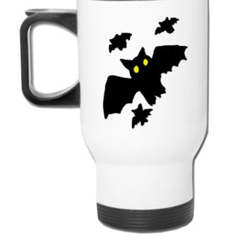 Bat - Bats - Halloween - Copy - Travel Mug