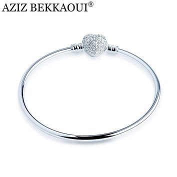 Beautiful Aziz Bekkaoui Silver Heart Shaped Bangle