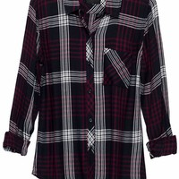 Rails Hunter Plaid Shirt in Indigo/Merlot