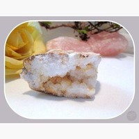 White Quartz Geode - OOAK 375ct