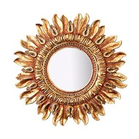 Small Sun Design Ornate Decorative Wall Mirror