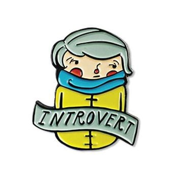 Introverted Person Pin