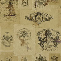 Blason Novelty - Parchement - Novelty - Wallcovering - Products - Ralph Lauren Home - RalphLaurenHome.com