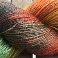 Hand Dyed Yarn - Gift from Mother Earth #2 - Superwash Merino Wool, 4 ply Fingering/Sock Weight Yarn 100gr