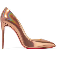 Christian Louboutin - Pigalle Follies 100 metallic patent-leather pumps