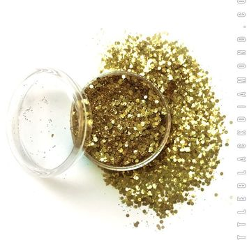 Biodegradable Face Glitter in 14 Karat