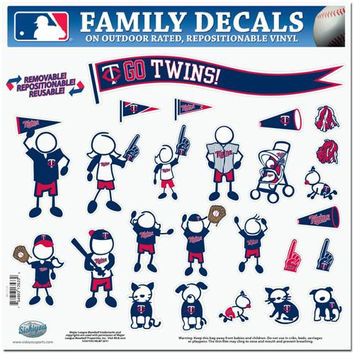Minnesota Twins MLB Family Car Decal Set (Large)