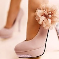 Flower heels with diamonds - FREE SHIPPING
