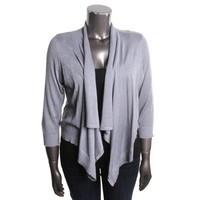 INC Womens Plus Metallic Shawl Collar Cardigan Sweater