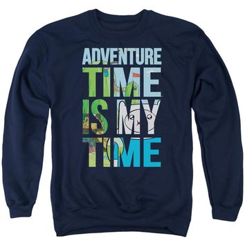 Adventure Time - My Time Adult Crewneck Sweatshirt Officially Licensed Apparel