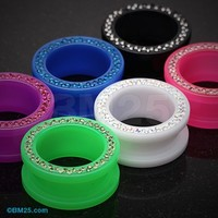 Tiffany Inspired Neon Acrylic Flesh Tunnel Ear Gauge Plug